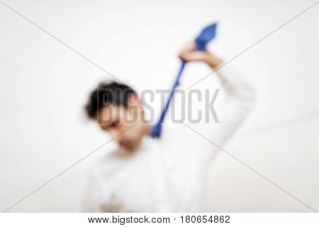 Frustrated Young Business Man  Hunging Himself On His Tie