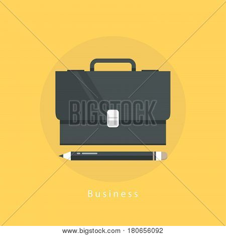 Job and career, freelance work, business management flat vector illustration design. Design agency, business portfolio, professional orientation, training and course design for mobile and web graphics