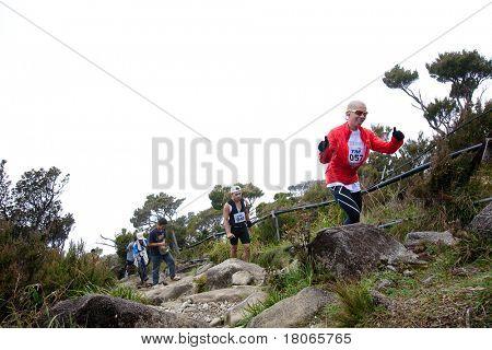 MT KINABALU, SABAH - OCT 25: Participants climb up Mt Kinabalu in the International Climbathon held on October 25, 2009 in Mt Kinabalu, Sabah, Malaysia.