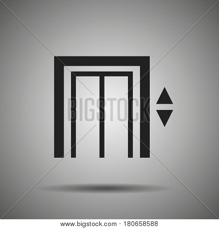 Elevator icon Vector lift symbol Elevator pictogram