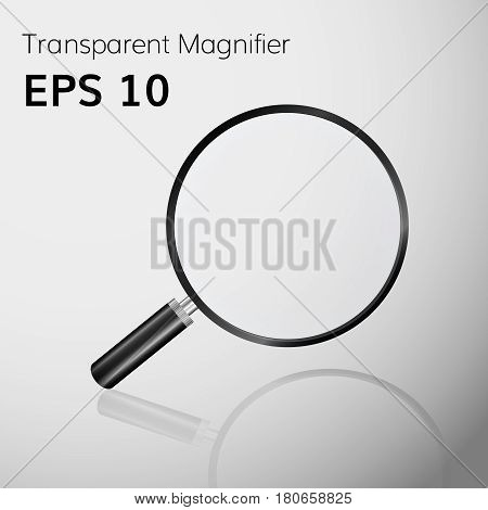 Transparent  magnifying glass realistic magnifier high quality magnifying lens vector