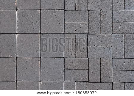 Vintage Clay Ceramic Clinker Pavers for Patio. Floor pavers in a path detail of a pavement to walk.