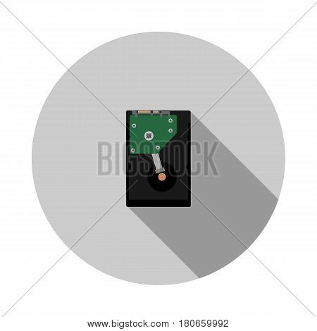 Vector image of a hard disk on a round base