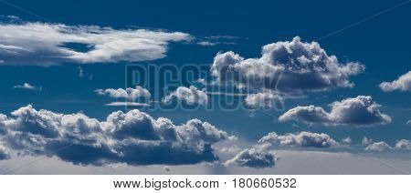 Cloudy sky background. Natural sky background with clouds.