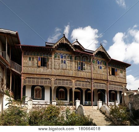 Exterior view to Rimbaud House and Museum in Harar Jugol Ethiopia