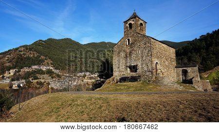 Romanesque church of St. Cristopher Andorra UNESCO World Heritage Site poster