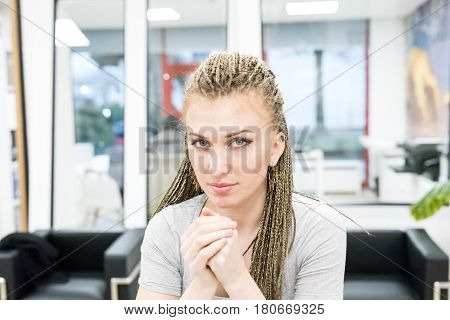 Candid Portrait Of Woman At Work