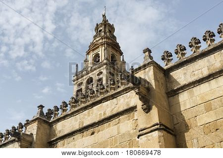 Cordoba (Andalucia Spain): external walls of the medieval cathedral known as mezquita-catedral