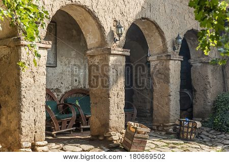 Courtyard With Very Old Adobe Gallery