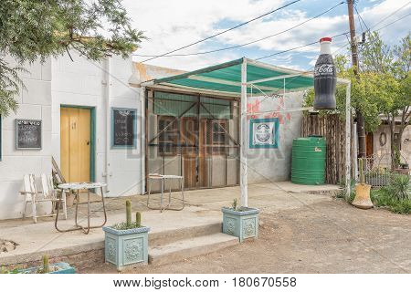 NIEU BETHESDA SOUTH AFRICA - MARCH 21 2017: A restaurant in Nieu-Bethesda an historic village in the Eastern Cape Province