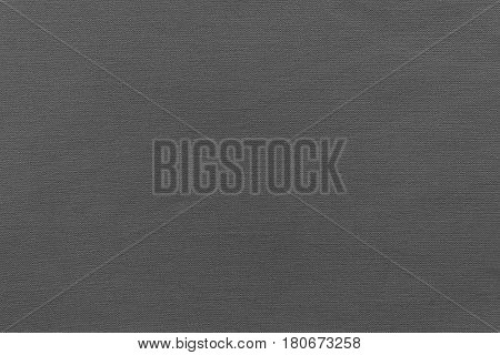 texture and background of rough fabric or cotton material of dark gray color