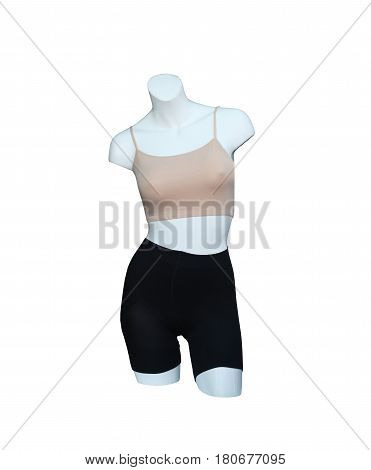 Female manikin and underwear isolated on white background and have clipping paths to easy deployment.