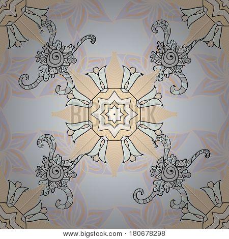 Anti-stress mandala. Colorful mandala. Yoga logo background for meditation poster. Indian flower mandala. Decorative colored round ornament. Oriental flourish vector.