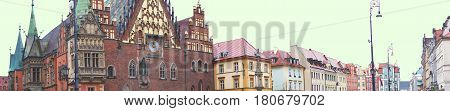 Panorama Of The Old Market Wroclaw