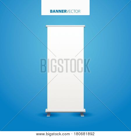 White Billboard Vector. Business Billboard For Advertising, Commercial Billboard, Advertisement Blan