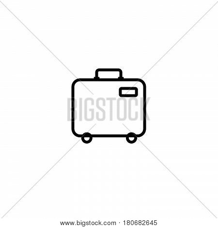 Baggage Icon. Airport Travel Trip And Tourism Theme. Isolated Design. Vector Illustration. Isolated