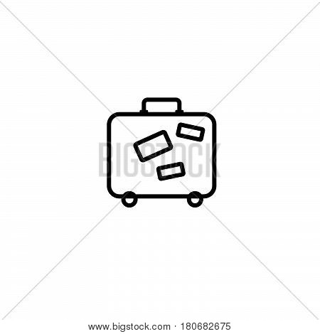 Baggage Icon. Airport Travel Trip And Tourism Theme. Isolated Design. Vector Illustration.isolated O