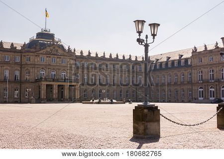 Stuttgart Neues Schloss Spring 2017 Beautiful Saturday Midday Schlossplatz