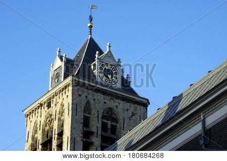 Old Church In Delft, Holland