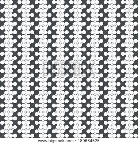 Seamless pattern. Modern stylish texture. Infinitely repeating geometrical texture. Vertical zigzag strips. Grid with outline circles rhombuses. Vector element of graphical design