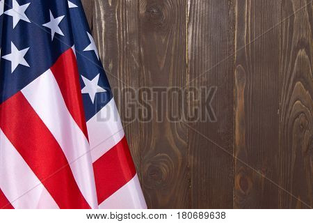 American Flag Wooden Background.the Flag Of The United States Of America. The Place To Advertise, Te