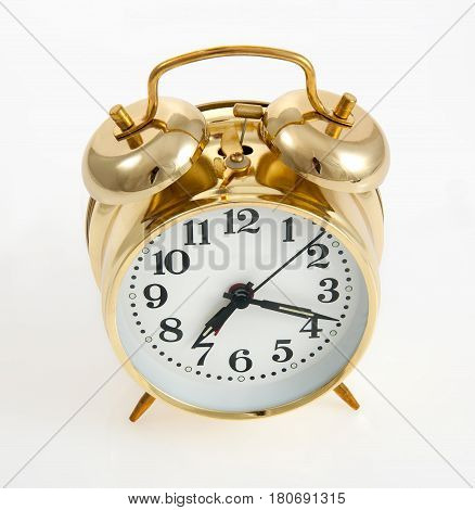 Copper color vintage style bell alarm clock