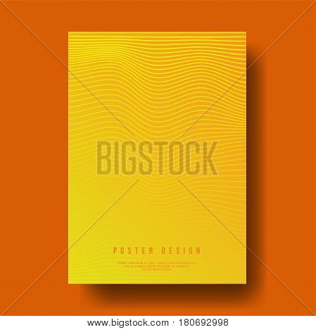 Abstract Geometric Line Cover Design - Vector illustration template