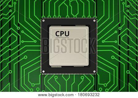 Cpu Chip On Circuit Board
