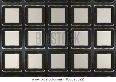 Cpu Chips In A Row