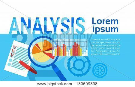 Analysis Data Statistics Finance Graph Financial Business Chart Flat Vector Illustration
