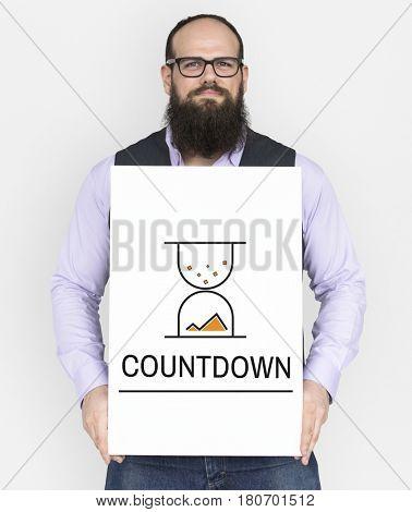 Hourglass Sandglass Timer Icon Word