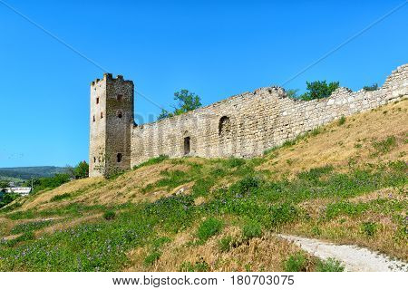 Ancient Genoese fortress in the city of Feodosia Crimea, Russia
