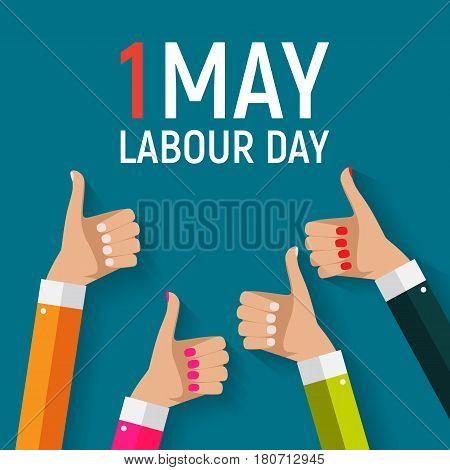 1 May Labour Day Poster or Banner. Vector Illustration EPS10 poster