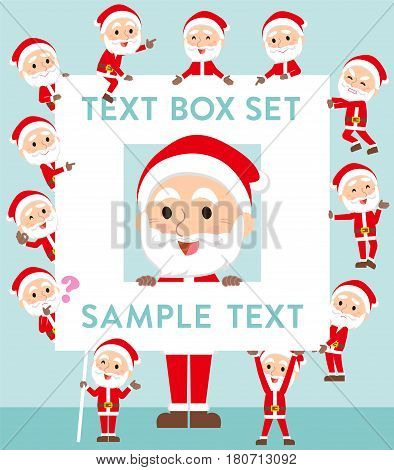 Santaclaus Old Man Text Box