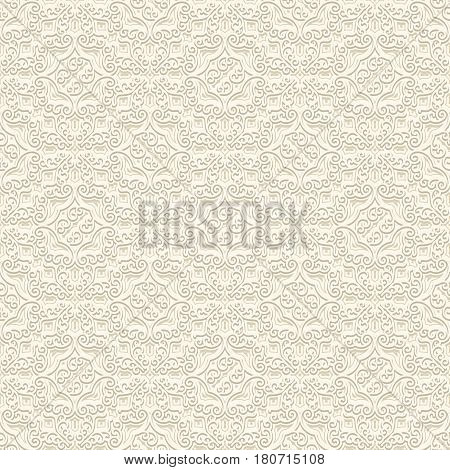 Vintage white background, seamless pattern in subtle colors