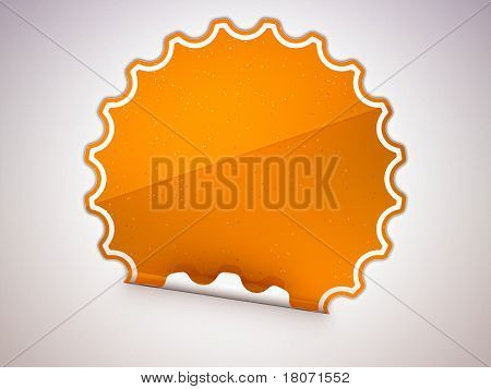 Spotted Orange Round Hamous Sticker Or Label