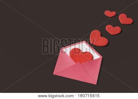 Love Letter Hearts Romance Lovey Dovey