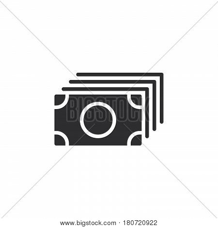 Money flow banknotes icon vector filled flat sign solid pictogram isolated on white. Symbol logo illustration. Pixel perfect