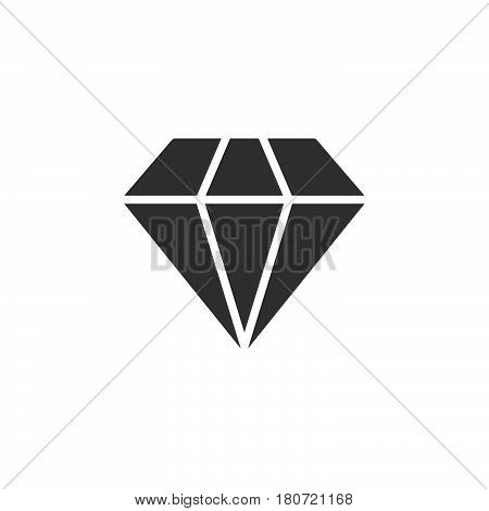 Diamond icon vector filled flat sign solid pictogram isolated on white. Gemstone symbol logo illustration. Pixel perfect