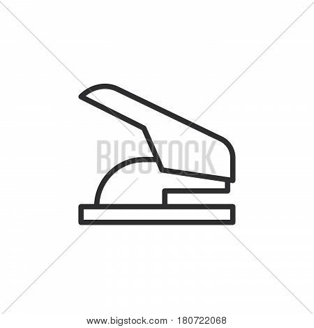 Paper hole punch line icon outline vector sign linear style pictogram isolated on white. Symbol logo illustration. Editable stroke. Pixel perfect