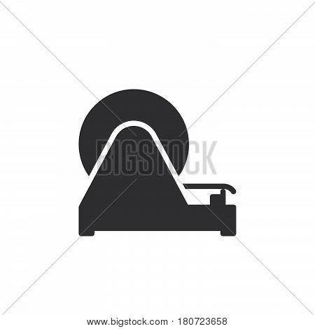 Adhesive tape dispenser icon vector filled flat sign solid pictogram isolated on white. Symbol logo illustration. Pixel perfect