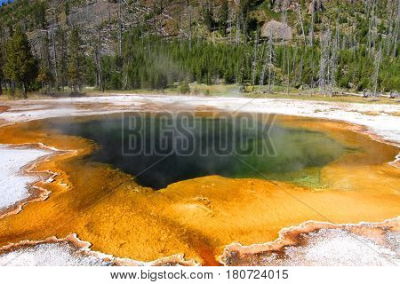 Emerald Pool In Yellowstone National Park in Wyoming