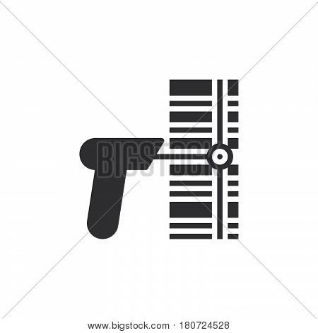 Barcode scanner icon vector filled flat sign solid pictogram isolated on white. Symbol logo illustration. Pixel perfect