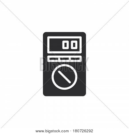 Digital Multimeter icon vector filled flat sign solid pictogram isolated on white. Symbol logo illustration. Pixel perfect