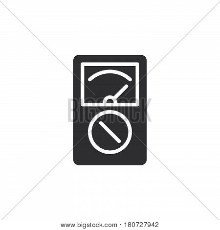 Analog multimeter icon vector filled flat sign solid pictogram isolated on white. Symbol logo illustration. Pixel perfect