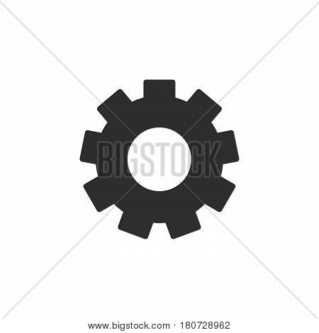 Gearwheel settings icon vector filled flat sign solid pictogram isolated on white. Symbol logo illustration. Pixel perfect