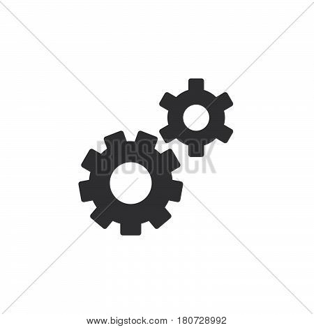 Gear settings preferences icon vector filled flat sign solid pictogram isolated on white. Symbol logo illustration. Pixel perfect