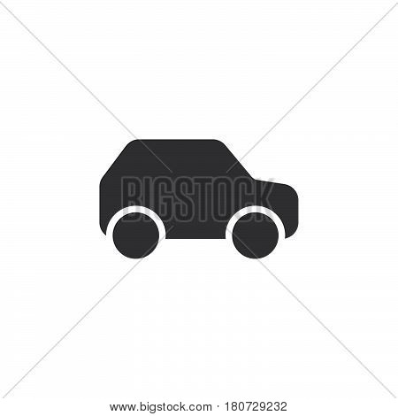 Car automobile icon vector filled flat sign solid pictogram isolated on white. Symbol logo illustration. Pixel perfect