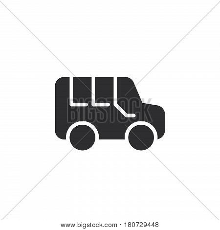 Minivan icon vector filled flat sign solid pictogram isolated on white. Symbol logo illustration. Pixel perfect