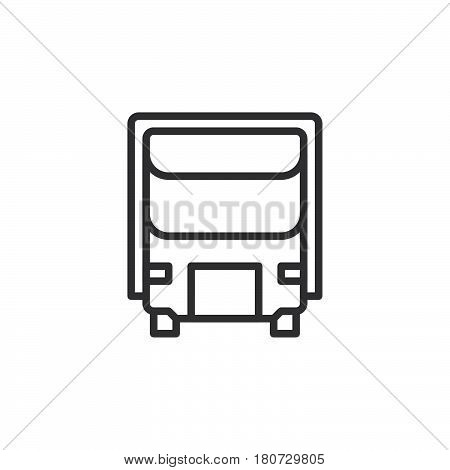 Delivery Shipping truck line icon outline vector sign linear style pictogram isolated on white. Lorry symbol logo illustration. Editable stroke. Pixel perfect